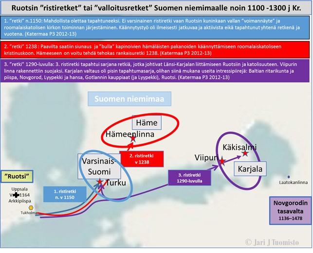 3 ristiretkea suomeen