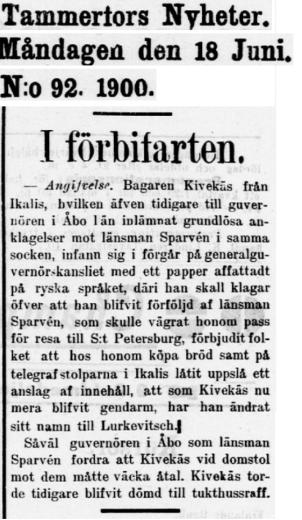 18.6.1900 tammerfors nyheter nro 92